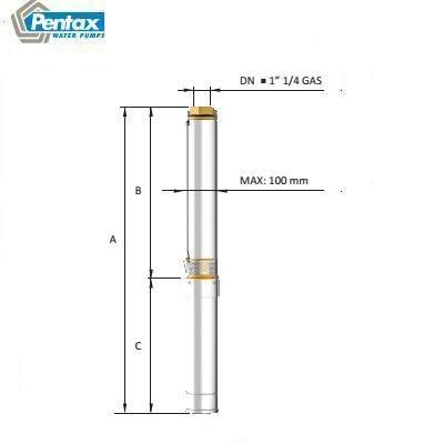 Bơm chìm giếng khoan Pentax 6S 48-4
