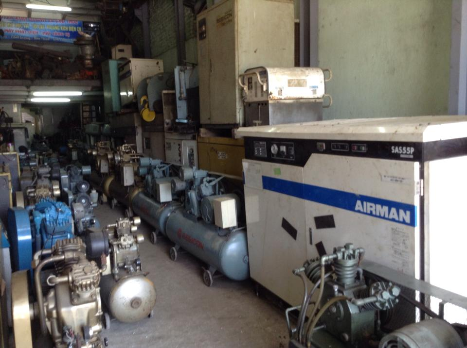 máy nén khí trục vít Nhật bãi